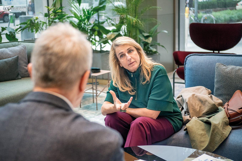 Patricia Urquiola im Gespräch mit Top Magazin-Redakteur Thomas Zorn