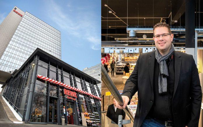 Bernd Kaffenberger eröffnete den neuen 700 qm großen Rewe CentralTower in Eschborn