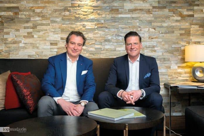 Christoph Müller (li.) und Eduard von Kymmel von der VP Bank leben beide mit ihren Familien in Luxemburg. Ihre Kunden treffen sie auch in Frankfurt