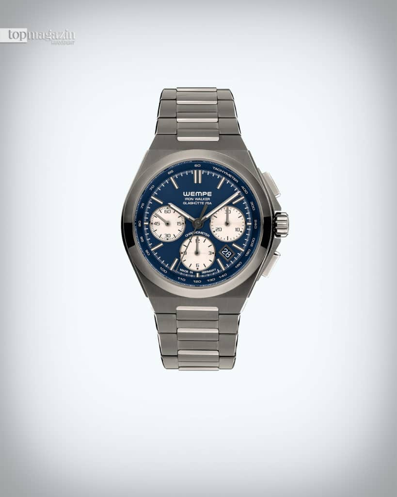 Die Frankfurt-Edition der neuen Uhrenlinie, Iron Walker, kommt dank DLC-Beschichtung in Anthrazit daher und ist auf 50 Exemplare limitiert