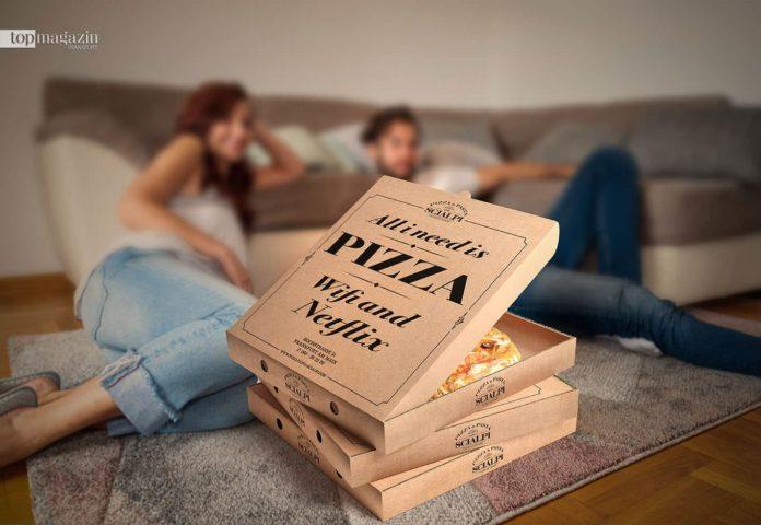 Pizza von Scialpi für den Netflix Abend