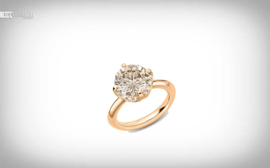 Ring Splendora by Kim in Roségold mit einem zimtfarbenen Diamanten im Wempe-Cut und Brillanten