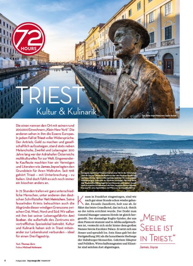 Top Magazin Frankfurt, Ausgabe Frühjahr 2020 - 72 Hours Triest
