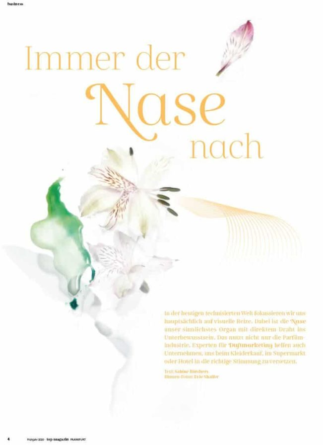 Top Magazin Frankfurt, Ausgabe Frühjahr 2020 - Duftmarketing