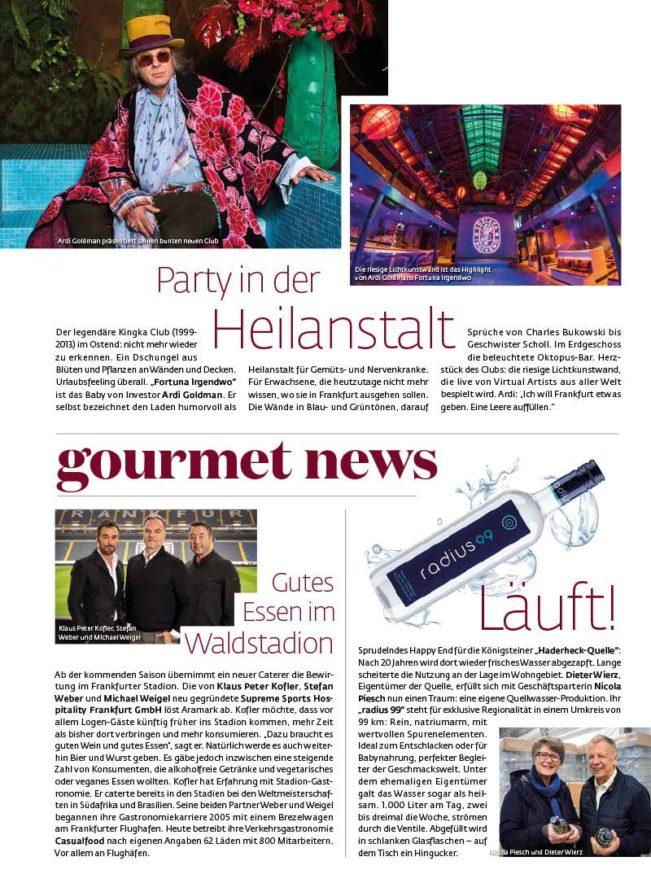 Top Magazin Frankfurt, Ausgabe Frühjahr 2020 - Gourmet News