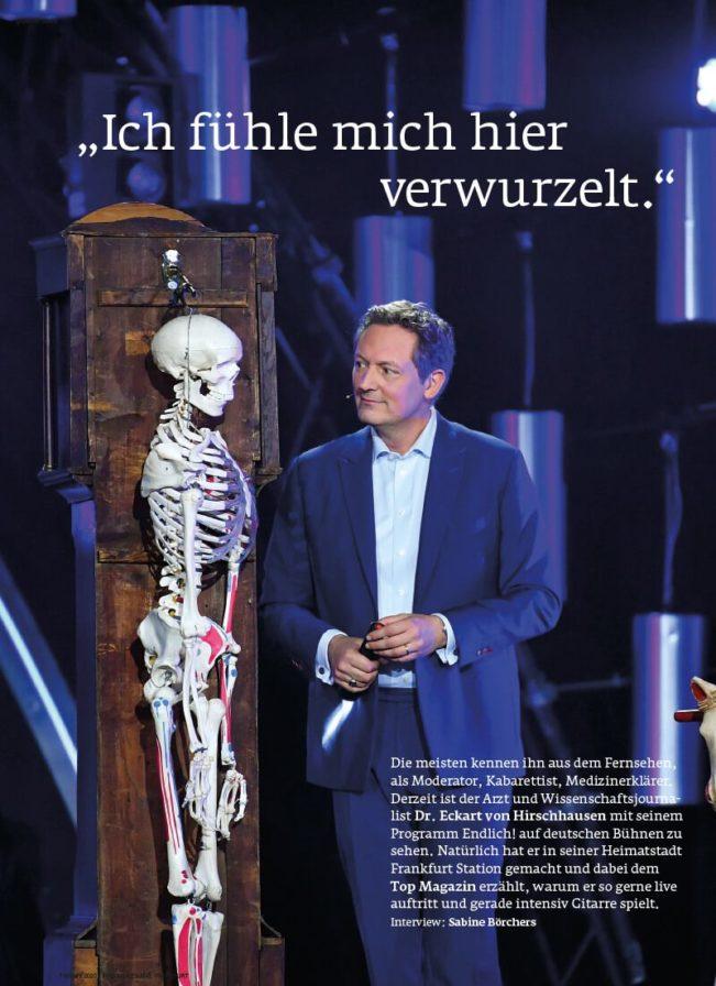 Top Magazin Frankfurt, Ausgabe Frühjahr 2020 - Interview Eckart von Hirschhausen