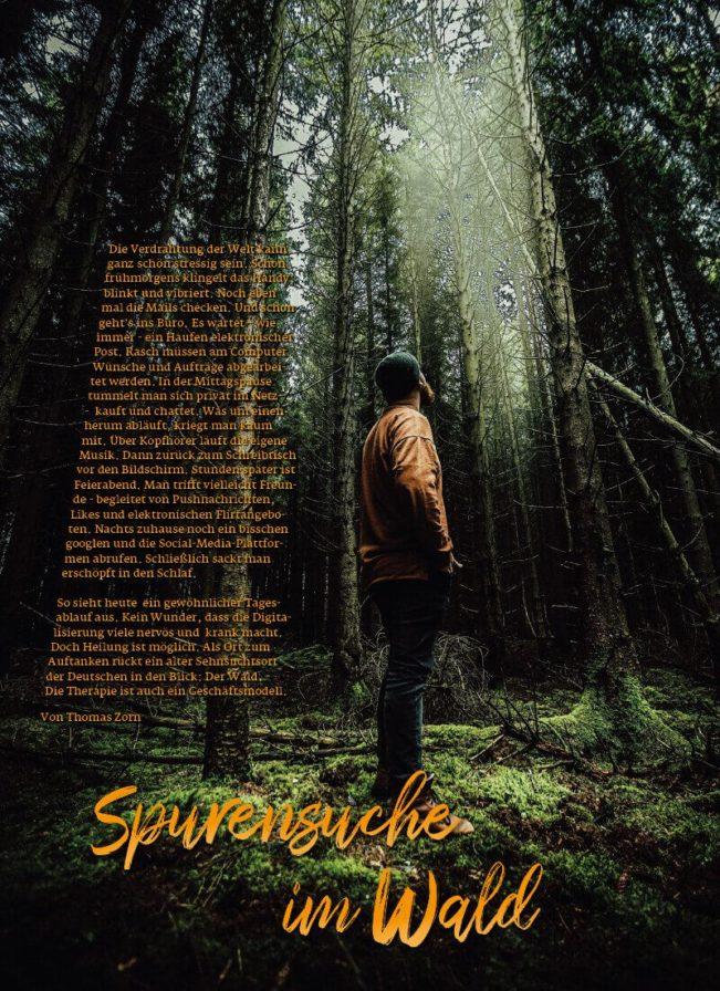 Top Magazin Frankfurt, Ausgabe Frühjahr 2020 - Spurensuche im Wald