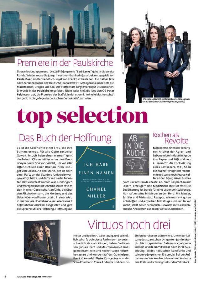 Top Magazin Frankfurt, Ausgabe Frühjahr 2020 - Top Selection