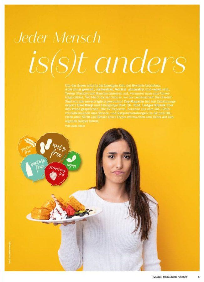 Top Magazin Frankfurt, Lebensmittelallergien - Jeder isst anders
