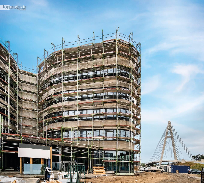 Der Neubau des zukünftigen Firmensitzes in Raunheim