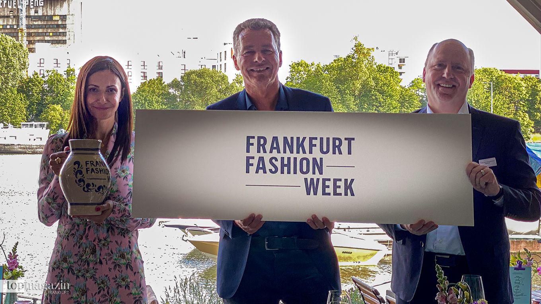 Fashion Week-Macherin Anita Tillmann, Messe-Geschäftsführer Detlef Braun und Bürgermeister Uwe Becker