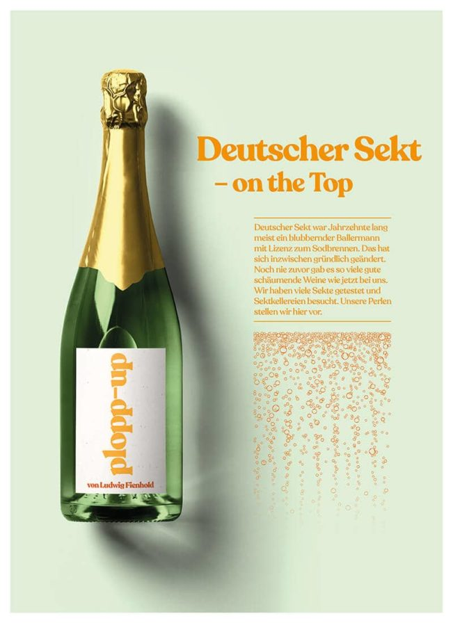 Top Magazin Frankfurt, Sommer 2020, Deutscher Sekt