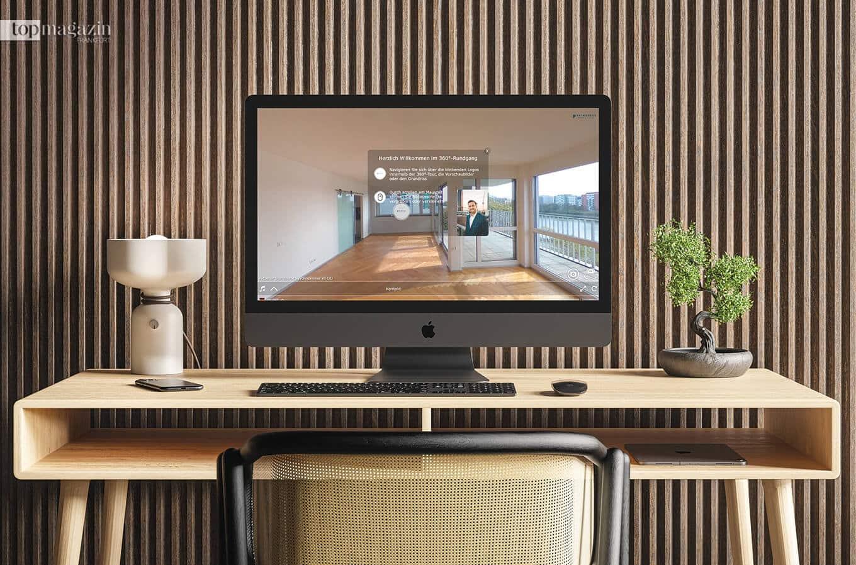 Virtuelle Wohnungsbesichtigung mit einer 360° -Tour – ganz bequem zuhause am Rechner