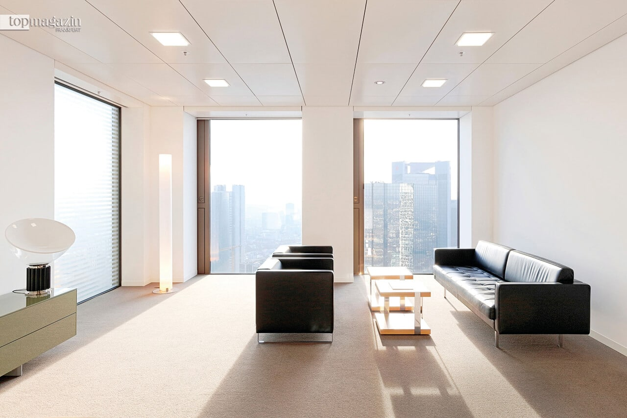 Über den Dächern Frankfurts - UBS-Kundenbereich in der 38. Etage