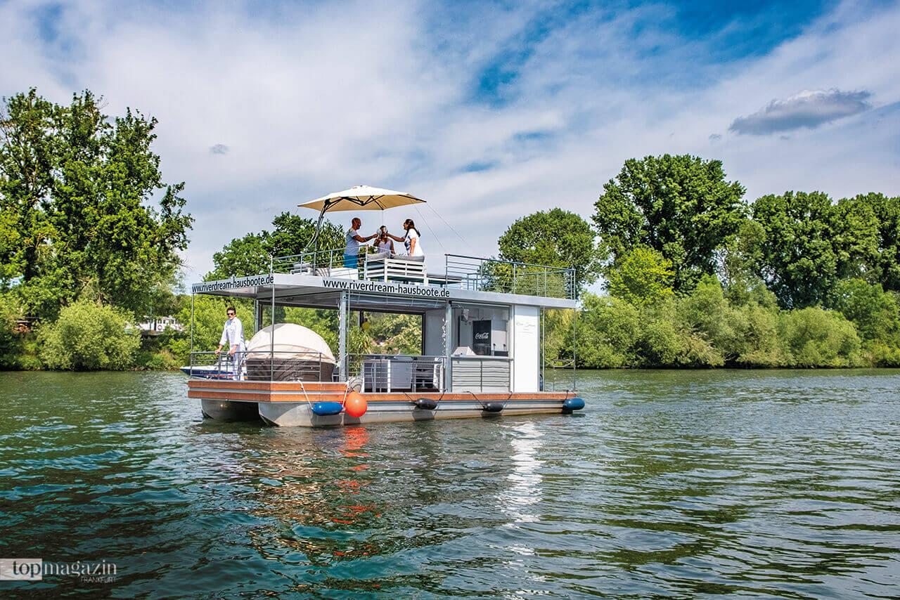 Das Event- und Partyboot auf dem Main bei Fechenheim
