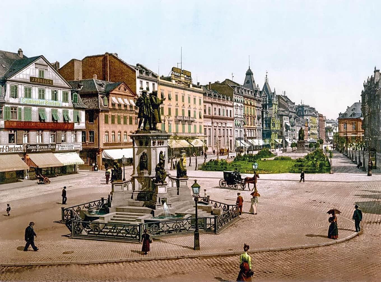 Der Rathenauplatz um 1900