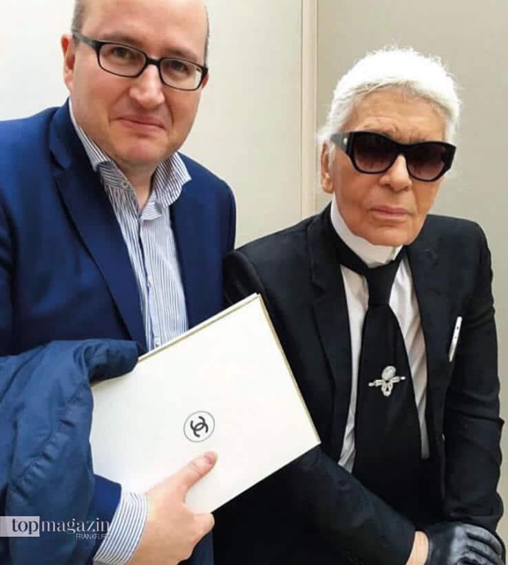 Alfons Kaiser mit Karl Lagerfeld