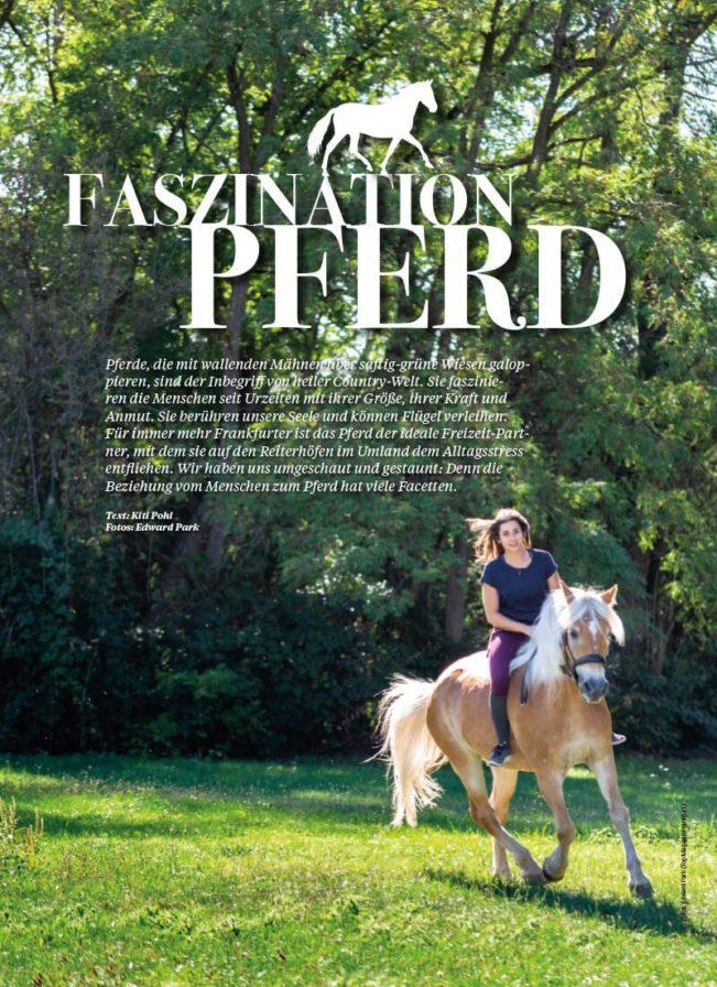 Top Magazin Frankfurt, Herbst 2020, Faszination Pferd