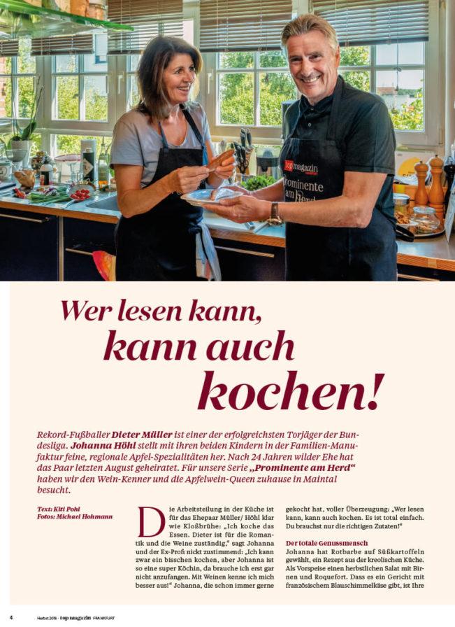 Top Magazin Frankfurt, Herbst 2020, Prominente am Herd