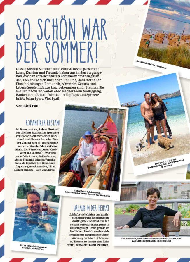 Top Magazin Frankfurt, Herbst 2020, Sommer Highlights