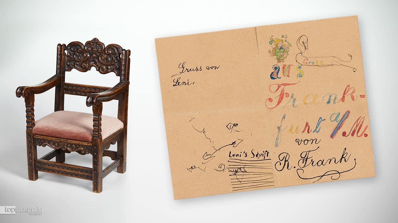 Exponate des Famile Frank Zentrums im Jüdischen Museum Frankfurt