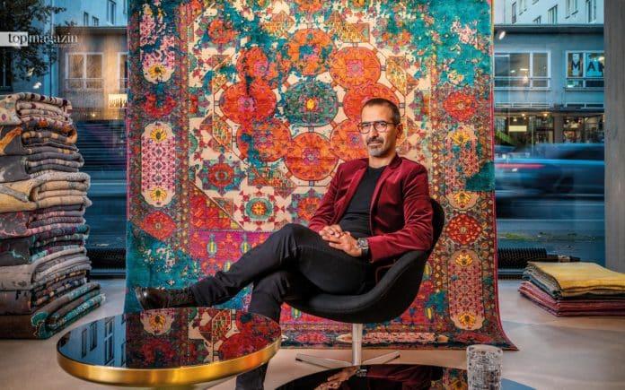 Anoshirvan Haghnazari führt in Frankfurt einen der bekanntesten Showrooms für Orienteppiche