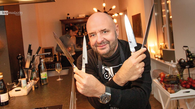 Bernd Breiter schwört auf Küchenmesser aus Samurai-Stahl