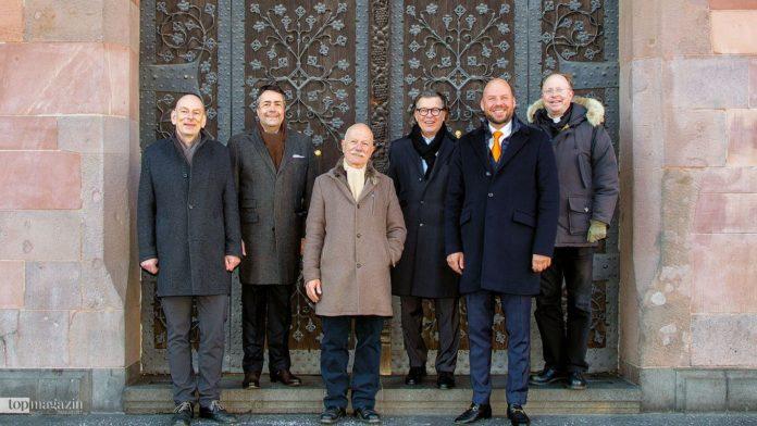 Das BFF-Kuratorium Mathias Mund, Prof. Moritz Hunzinger, Wolfgang Hübner, Prof. Hans Joachim Mendig, Carl-Philip Graf zu Solms-Wildenfels, Pater Dr. Georg Fischer, OT