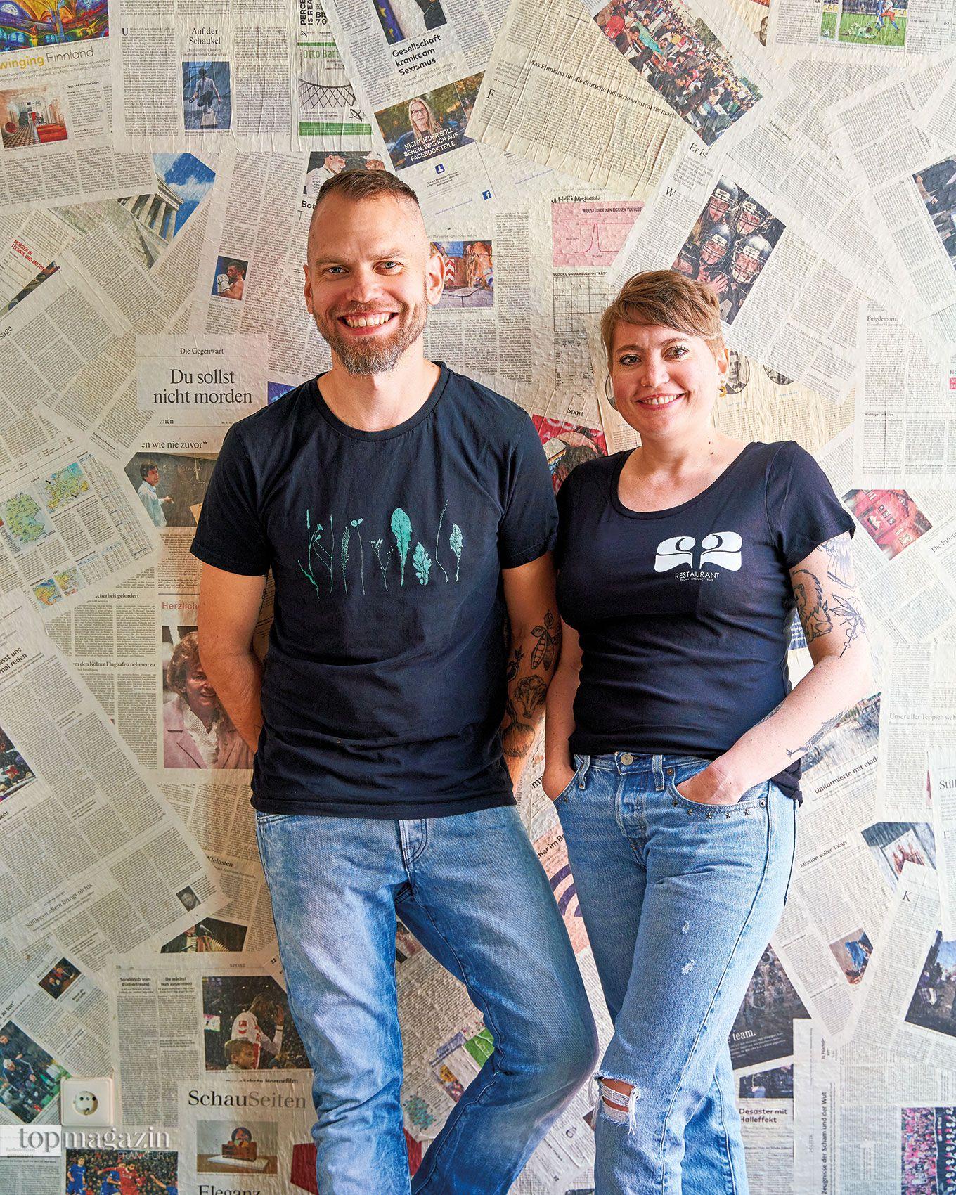 Dirk Schritt und Marina Ginkel vom Restaurant Zwei und Zwanzig in Geisenheim