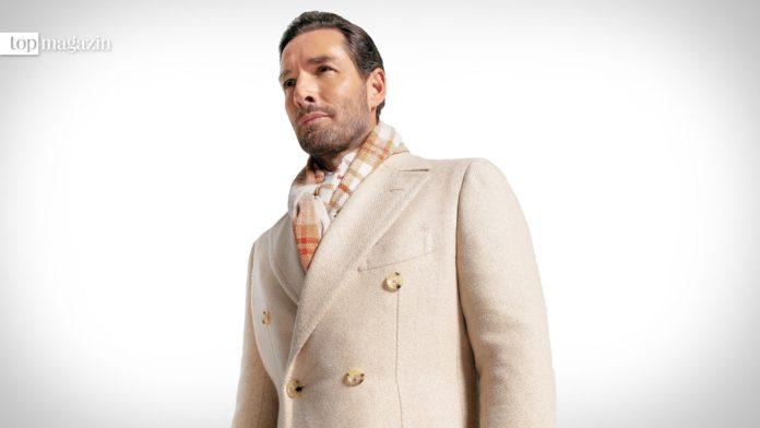 Ein Traum aus Kaschmir - hell-beige Mantel der Winterkollektion von Cesare Attolini