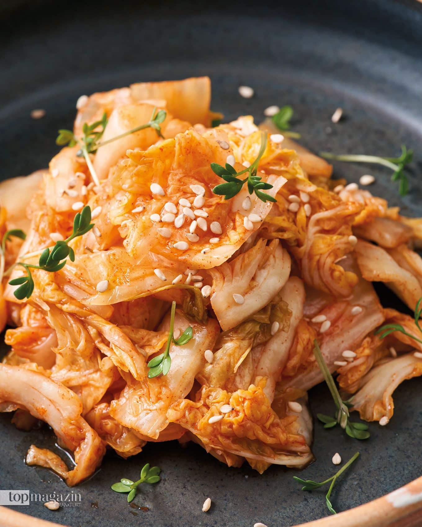 Kimchi im Restaurant Zwei und Zwanzig in Geisenheim