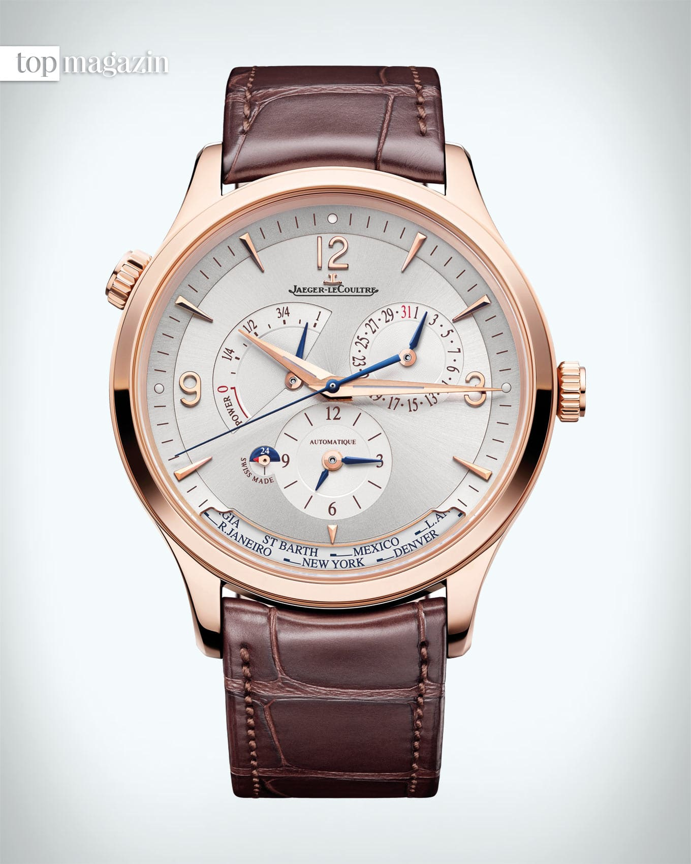 "Master Control Geographic in ""Le Grand Rose""-Gold von Jaeger-LeCoultre"