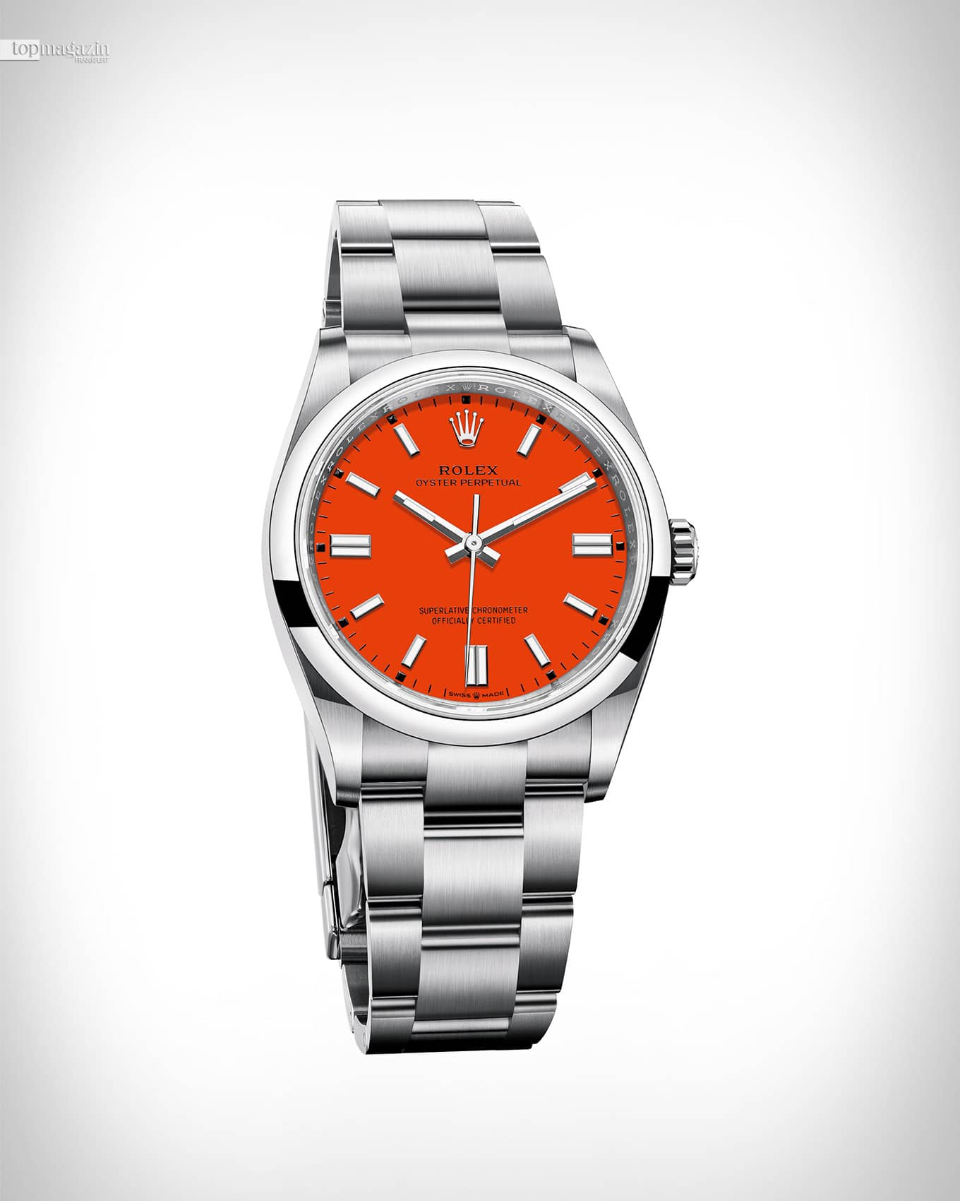 Rolex Oyster Perpetual 36 - Korallenrot