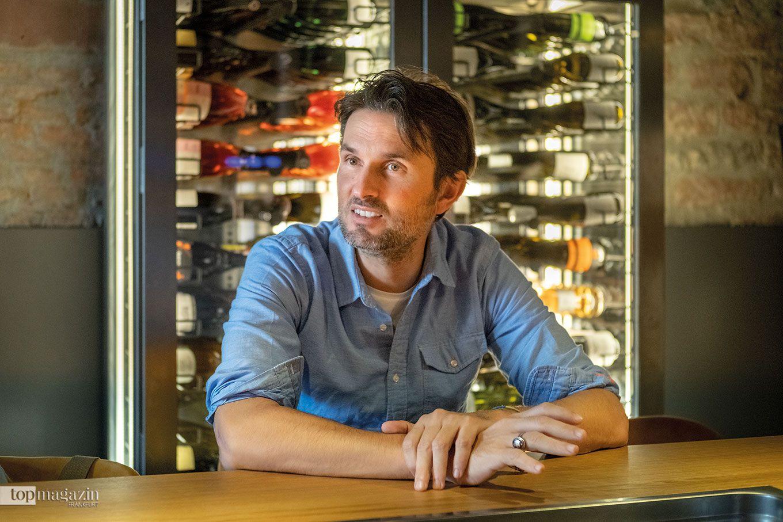 Simon Verhoeven in der Winebank Frankfurt