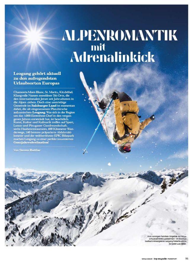 Top Magazin, Ausgabe Winter 2020, Alpenromantik mit Adrenalinkick