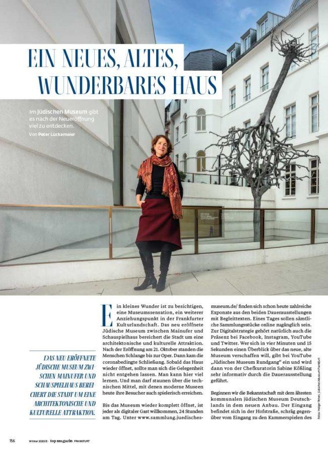 Top Magazin, Ausgabe Winter 2020, Jüdisches Museum