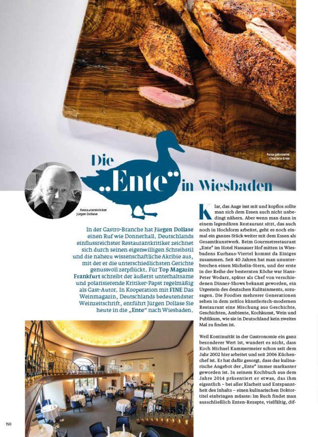 Top Magazin, Ausgabe Winter 2020, Zu Gast in der Ente Wiesbaden