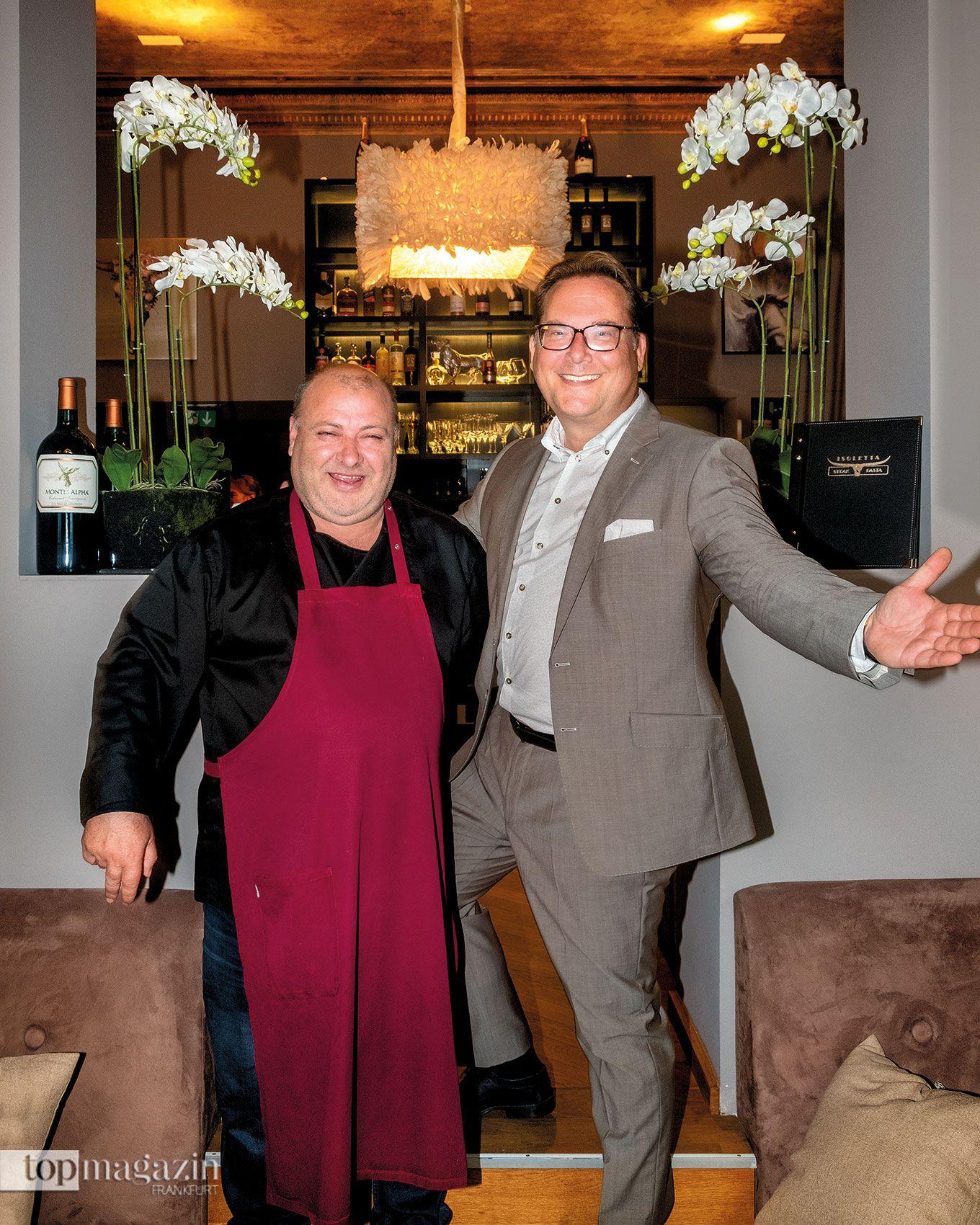 Salvatore Cavallo und Michael Schramm im neuen Wiesbadener Isoletta Steak & Pasta