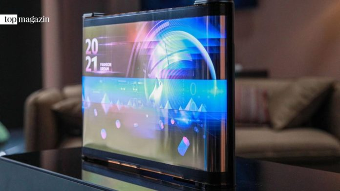 TCL Printed OLED Scrolling Display