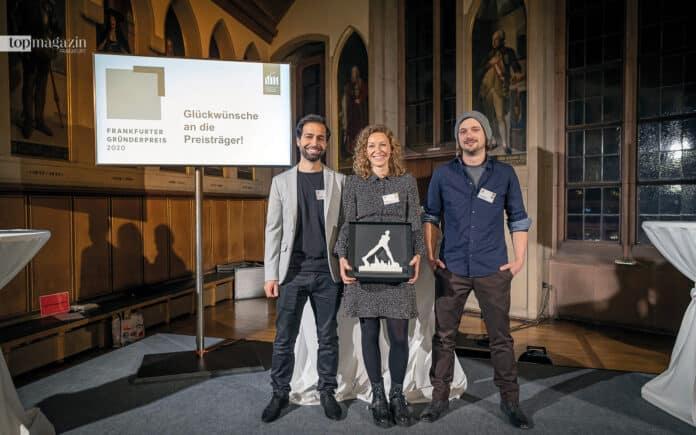 Der 1. Platz ging an das Trio vom Startup raumvonwert