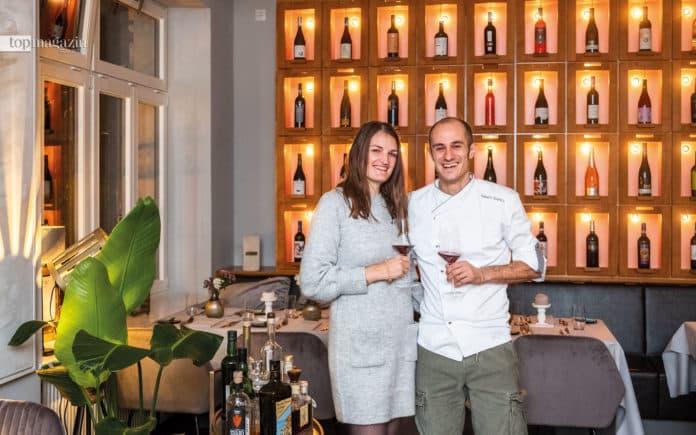 Massimo Sparaco mit Rebekka Ruppel in seinem ersten eigenen Restaurant, dem Tempaccio