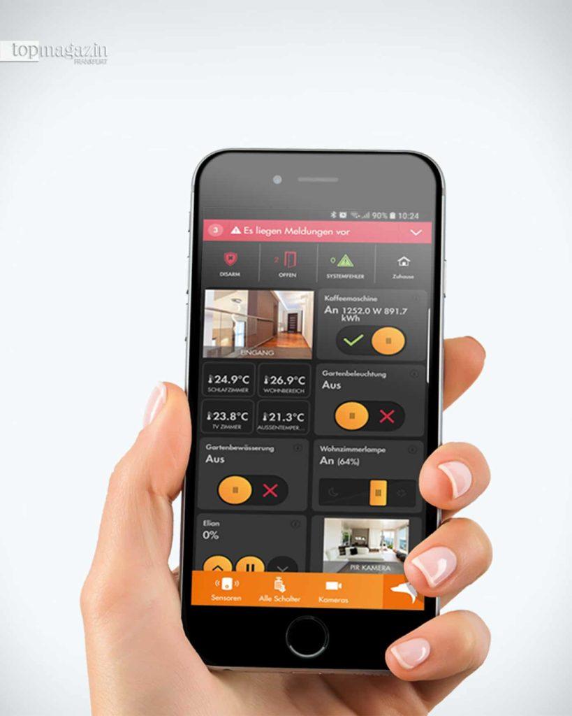 Mit der Lupus App hat man alles auf einen Blick - die aktuellsten Ereignisse, Alarm-Status-Anzeigen oder den Direktzugriff auf Sensoren-Zustände und Kameras