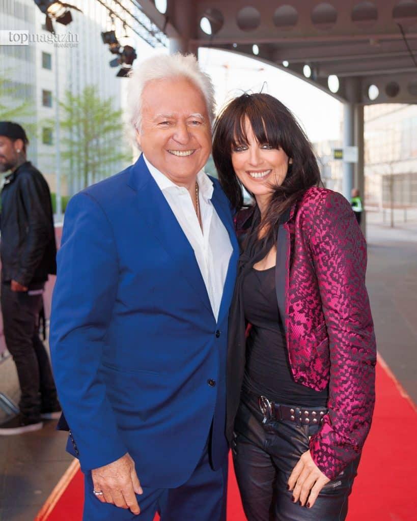 Ossy Hoppe und Nena auf dem roten Teppich beim LEA Award vor der Festhalle