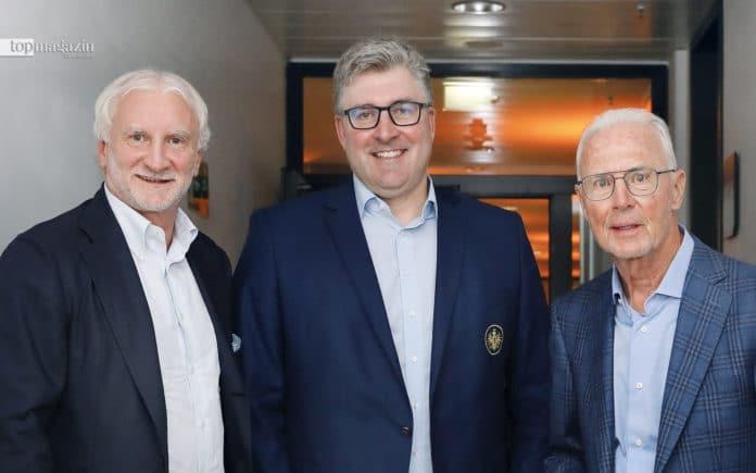 Rudi Völler, Axel Hellmann, Franz Beckenbauer