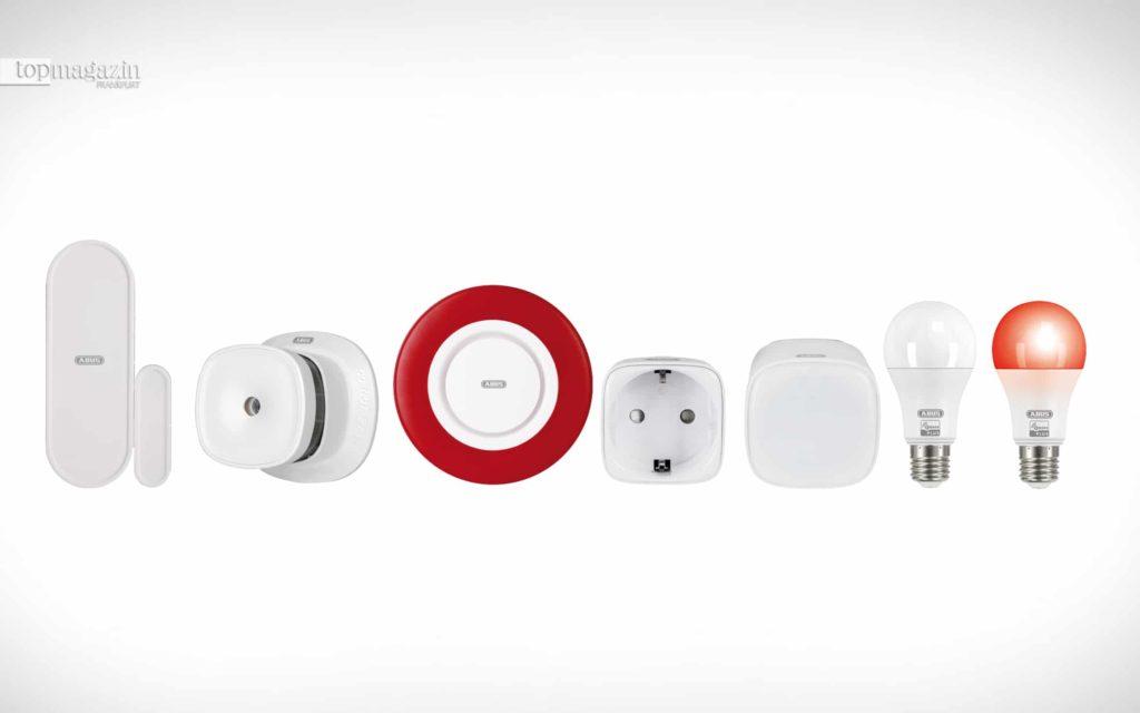Z-Wave Gateway, kann bis zu 120 Komponenten wie Multisensoren, Tür- und Fensterkontakte, Kameras, Innensirenen oder auch LED-Lampen, Wasser- und Rauchmelder verknüpfen