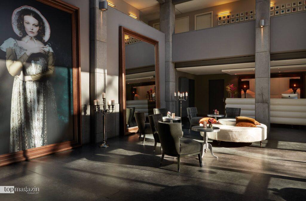 Die Lobby des Design-Hotels in der Gerbermühle (Foto Gekko Group / Gerbermühle)
