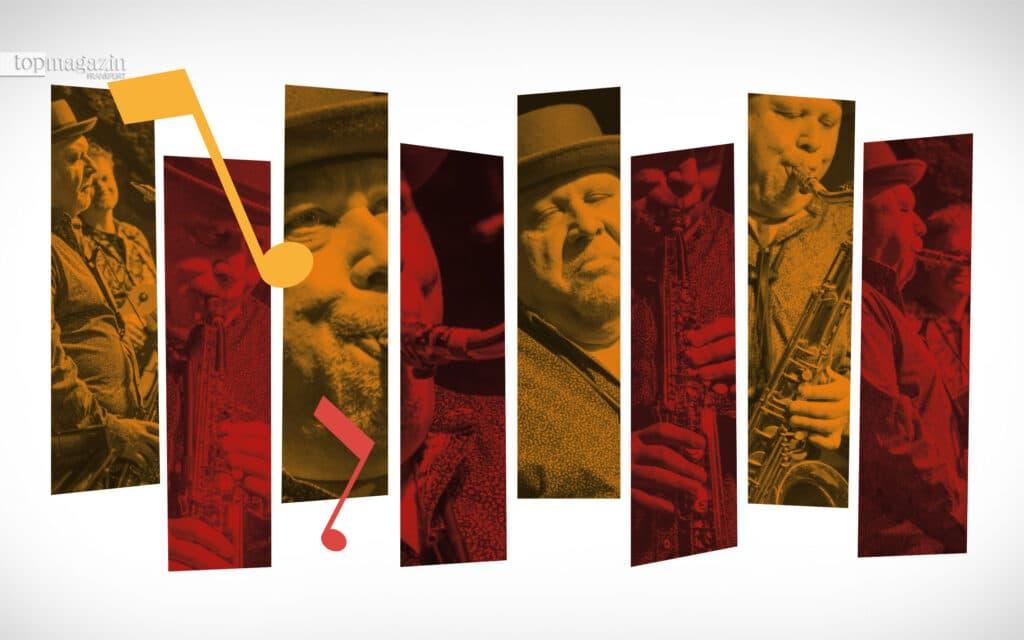 Tony Lakatos mit seinem Saxofon