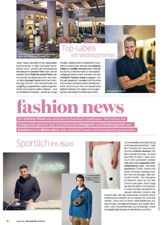 Top Magazin Ausgabe Frühjahr 2021 - Fashion News