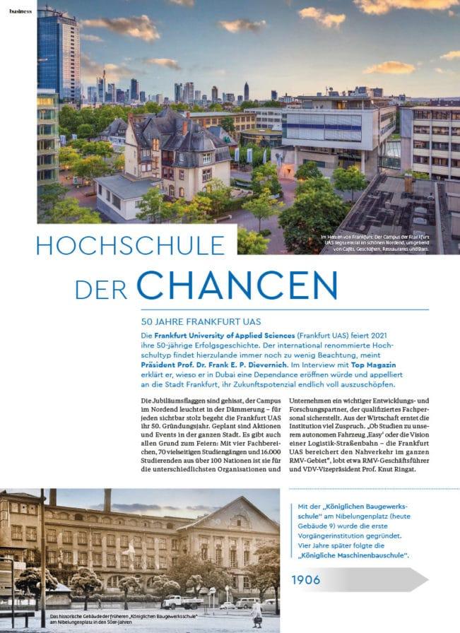 Top Magazin Ausgabe Frühjahr 2021 - Hochschule der Chancen