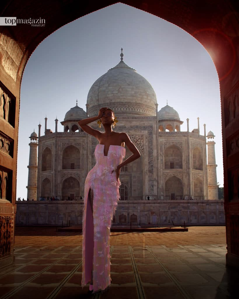 Avatar Hauli posierte auch schon vor dem Taj Mahal